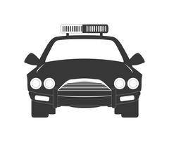 Policecar icon. Justice and law. vector graphic - stock illustration