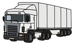 Towing truck with a semitrailer Stock Illustration
