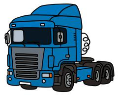 Blue towing truck Stock Illustration