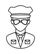 Policeman icon. Justice and law. vector graphic - stock illustration