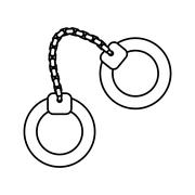 Handcuffs icon. Justice and law. vector graphic Stock Illustration