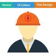 Electric engineer icon - stock illustration