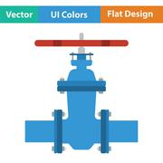 Pipe valve icon Stock Illustration