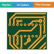 Circuit board icon Stock Illustration