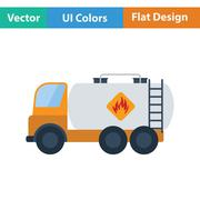 Fuel tank truck icon - stock illustration