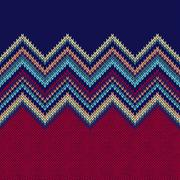 Seamless Ethnic Geometric Knitted Pattern Stock Illustration