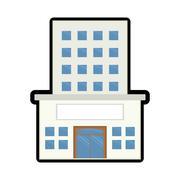 Building icon. Architecture design.  vector graphic - stock illustration