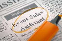 We're Hiring Event Sales Assistant Stock Illustration