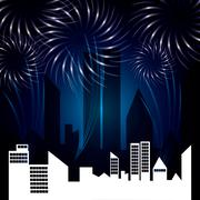 Firework icon design - stock illustration