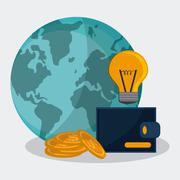 Saving money design - stock illustration