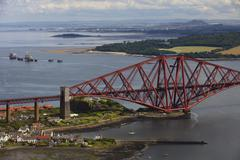 Forth Rail Bridge near Queensferry, Scotland, UK Stock Photos