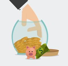 Saving money design - stock illustration