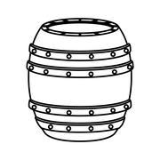 Barrel icon. Beer beverage. vector graphic Stock Illustration