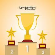 Competition icon design - stock illustration
