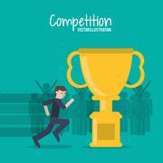 Competition icon design Stock Illustration