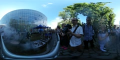 360Vr Video Craftsmen Festival High Temperature Wroclaw Tempering Enameling a - stock footage