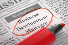 Business Development Manager Join Our Team Stock Illustration
