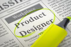 Product Designer Job Vacancy - stock illustration
