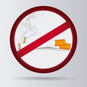 Cigarette icon design , vector illustration - stock illustration