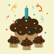 Bakery and muffin design Stock Illustration