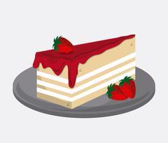 Bakery and cake design - stock illustration