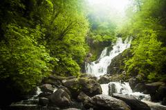 Torc Waterfall, Kerry, Ireland Stock Photos