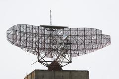 Satellite dish, Montauk, New York, USA - stock photo