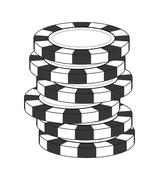 Chip icon. Casino and las vegas design. Vector graphic - stock illustration