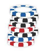 Chip icon. Casino and las vegas design. Vector graphic Stock Illustration