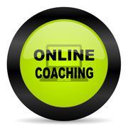 Online coaching icon Stock Illustration