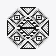 Tribal design. black and white abstract figure. vector graphic Stock Illustration