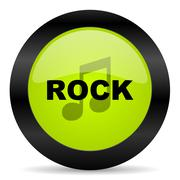 Rock music icon Stock Illustration