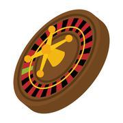 Roulette icon. Casino and las vegas design. Vector graphic Piirros