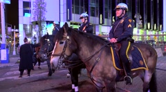 Mounted police on duty at Times Square. NYC, USA. - stock footage