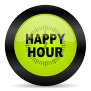 Happy hour icon Stock Illustration