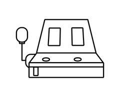 Slot machine icon. Casino and las vegas design. Vector graphic - stock illustration