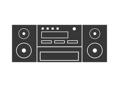 Speaker icon. Appliance design. Vector graphic Stock Illustration