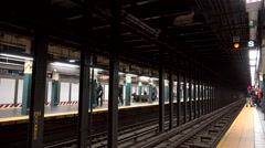 NYC Subway station. Times Square–42nd Str/Port Authority Bus Terminal. Stock Footage