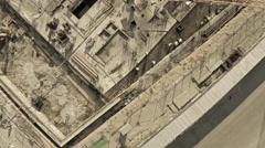 Aerial view of cranes on big construction site of dwelling houses and offices Stock Footage