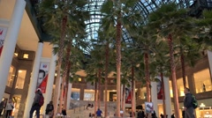 Winter Garden Atrium in Brookfield Place office complex. NYC, USA Stock Footage
