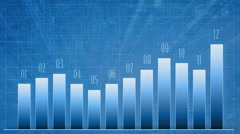 Infographic with growth graph. Finance report 12 month. - stock footage