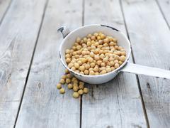 Still life of chick peas (also known as gram, bengal gram, garbanzo, garbanzo - stock photo