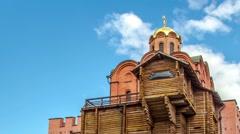"""Golden Gate"" - monument of architecture. Kiev, Ukraine. Timelapse Stock Footage"
