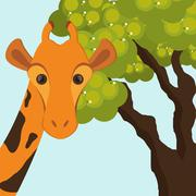 Giraffe icon. Animal design. Safari concept Stock Illustration