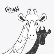 Giraffe icon. Animal design. Safari concept Stock Illustration