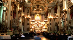 Interior view of the church of st joseph in rio Stock Footage