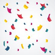 Happy birthday design. confetti icon. celebration concept - stock illustration