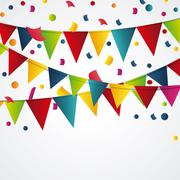 Happy birthday design. confetti icon. celebration concept - stock illustration