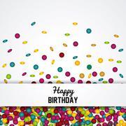 Happy birthday design. confetti icon. celebration concept Stock Illustration