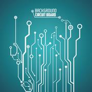 Circuit board design. technology and electronic concept Stock Illustration